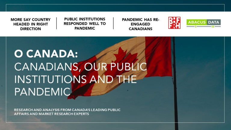 O Canada: Canadians, our public institutions, and the pandemic