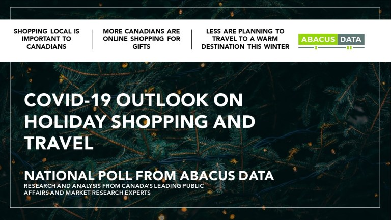 How has the pandemic impacted holiday shopping and winter travel in Canada?