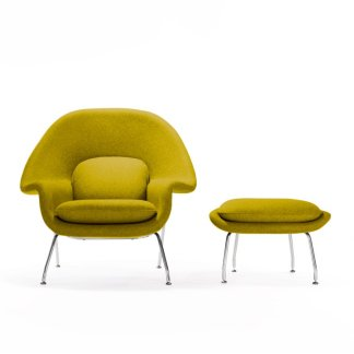 Wool Chartreuse Chair