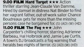 ITV4 - Yaaas! Probably John Woo's best US film followed by pure Carpenter Joy!