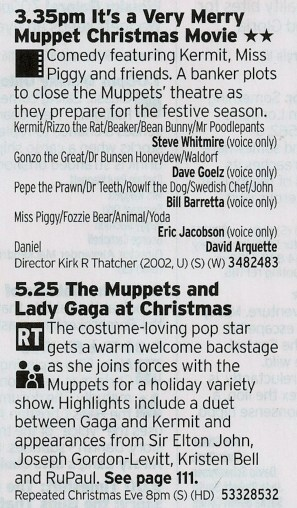 1535 C5 - Back to back Muppets! Neither is close to the top of the Muppet Mountain but a day without Muppets is like a child without fun