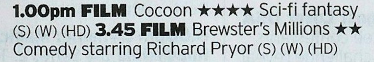 1300 More4 - WOW. Now here's a double bill; a Guttenberg classic and Pryor's secret best film. WOW.