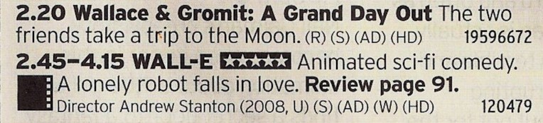 1420 BBC1 - Beautiful double bill here showing two of the best animations ever put together