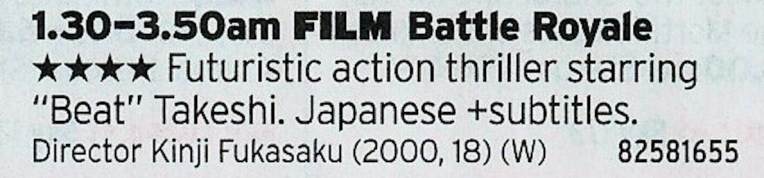 030 Film4 - And so this year's strategy guide ends with a film about Japanese kids murdering each other. See you next year!