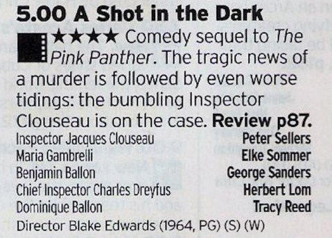 Now, The Pink Panther was a good film but it was with this film that Clouseau became a true icon, thanks to the film being brilliant