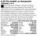 1835 - ITV1 - The Hobbit felt like a film that didn't need to be made, more like one to make the box sets look a bit better on the shelf. Still fun but a bit too dragged out