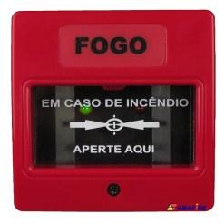 Botoeira e Acionador Manual Convencional (Convencional Call Point) código AFAM2. Ideal para Central de Alarme de Incêndio. Imagem 01