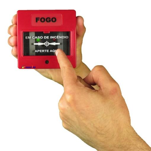 Botoeira e Acionador Manual Convencional (Convencional Call Point) código AFAM2. Ideal para Central de Alarme de Incêndio. Imagem 06