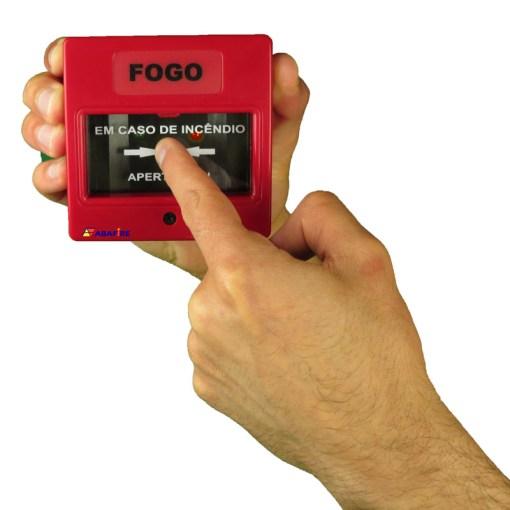 Botoeira e Acionador Manual Convencional (Convencional Call Point) código AFAM2. Ideal para Central de Alarme de Incêndio. Imagem 07