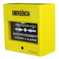 Acionador Manual e Botoeira de Comando Para Controle de Acesso e Emergência na Cor Amarela com Relé NA/NF código AFAM3AM - Imagem 02