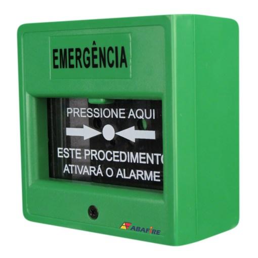 Acionador Manual e Botoeira de Comando Para Controle de Acesso e Emergência na Cor Verde com Relé NA/NF código AFAM3VD - Imagem 02