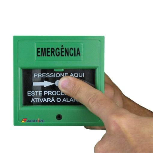 Acionador Manual e Botoeira de Comando Para Controle de Acesso e Emergência na Cor Verde com Relé NA/NF código AFAM3VD - Imagem 06