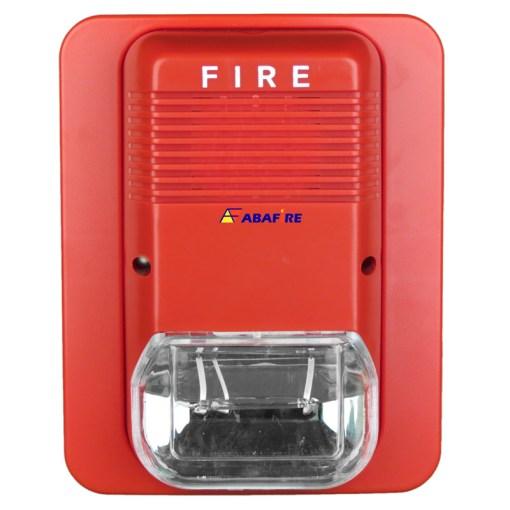 Sirene Audiovisual de Alarme de Incêndio Tensão de 24V com Flashes de Xenon e Alerta Sonoro com 03 Tipos de Toques código AFSX - Imagem 01