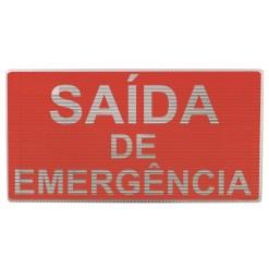 Bloco Autônomo de Iluminação de Emergência e Balizamento Escrito Saída de Emergência, com Duas Lâmpadas de 9 Watts, código AFMAC5122B