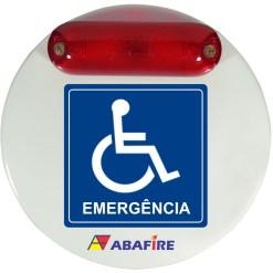 Campainha Sonora e Luminosa (Audiovisual) Wireless Para Banheiros e Sanitarios de Pessoas Com Deficiencia (PCD) Código AFSAVW - Imagem 01