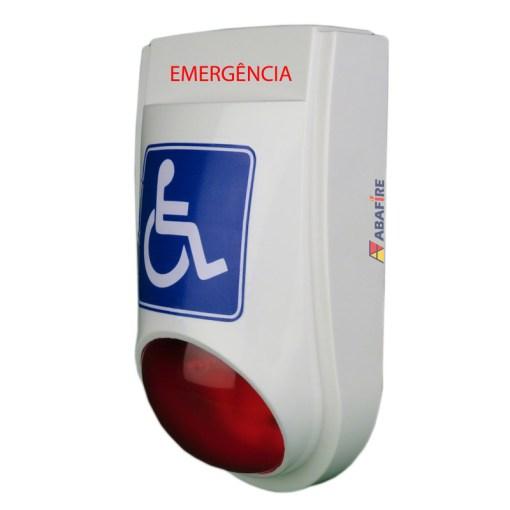 Sirene Audiovisual de Emergência e Alarme para Sanitários PNE (Portadores de Necessidades Especiais) Tipo Cabeado - Imagem 03