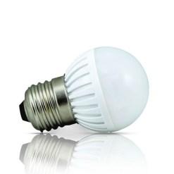 Lâmpada de LED tipo bolinha em 24 Volts e 3 Watts com 360 Lumens, código AFLED24V3W, Para Centrais de Iluminação de Emergência - Imagem 01