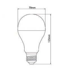 Lâmpada de LED tipo Bulbo em 12 Volts e 5 Watts com 720 Lumens, código AFLED12V5W, Para Centrais de Iluminação de Emergência - Imagem 03