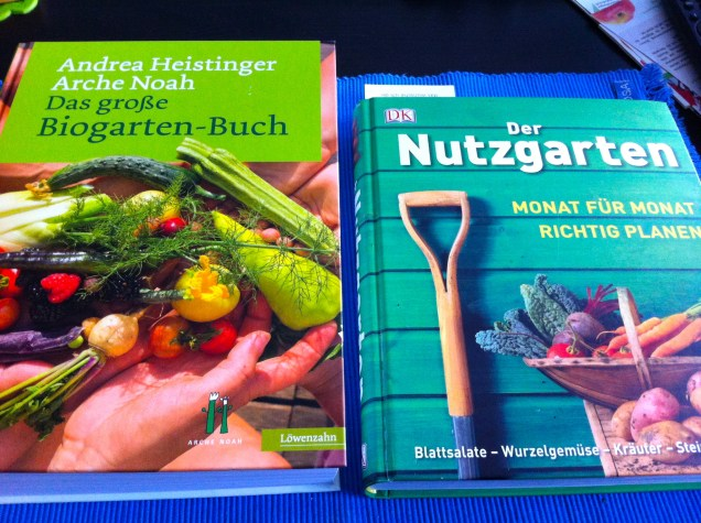 A couple of books that I bought to start planning next year's garden.