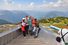 Hubs, my mom, and good friends enjoying the view from above the 'Dachstein'