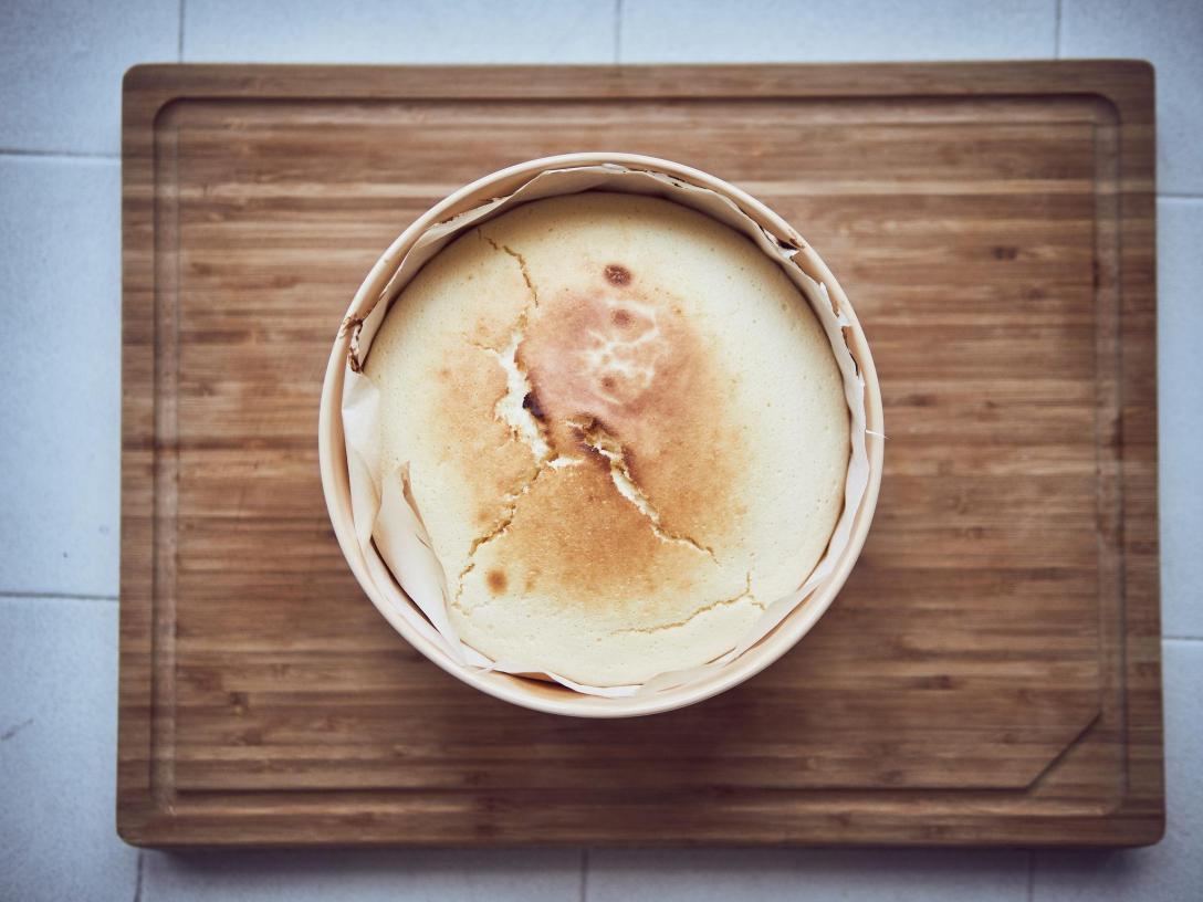 cheesecake japonés pastel de queso con la Ocoo