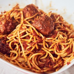 Spaghetti & Meatballs (espaguetis con albóndigas, vaya)