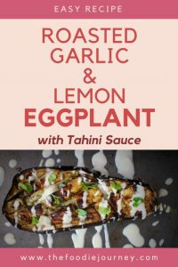 Garlic and Lemon Roasted Eggplants