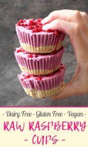Dairy Free, Gluten Free, Vegan Raw Raspberry Cups