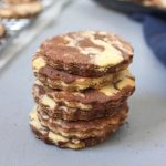 Stack of Chocolate Vanilla Marble Cookies