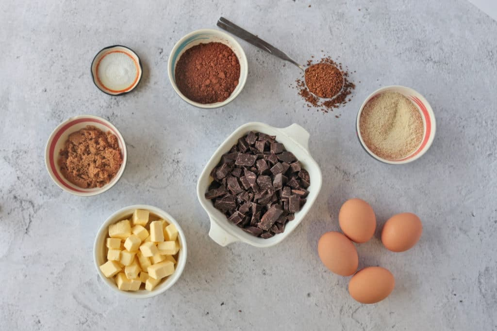 List of Ingredients for Flourless Chocolate Cake