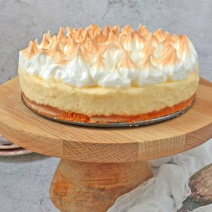 Lemon Meringue Cake on a Cake Stand