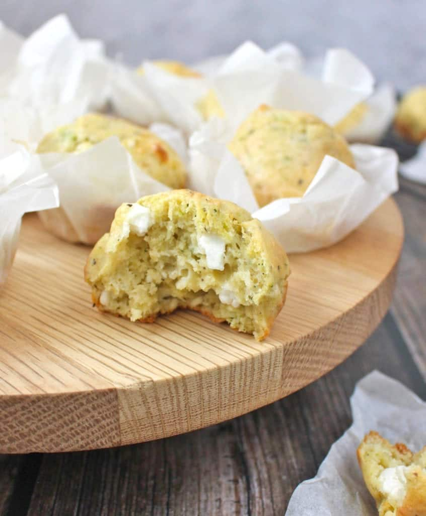 Savory Cheese Zucchinu Muffins