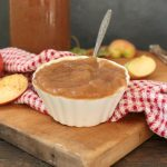 Homemade Applesauce in a small white cup