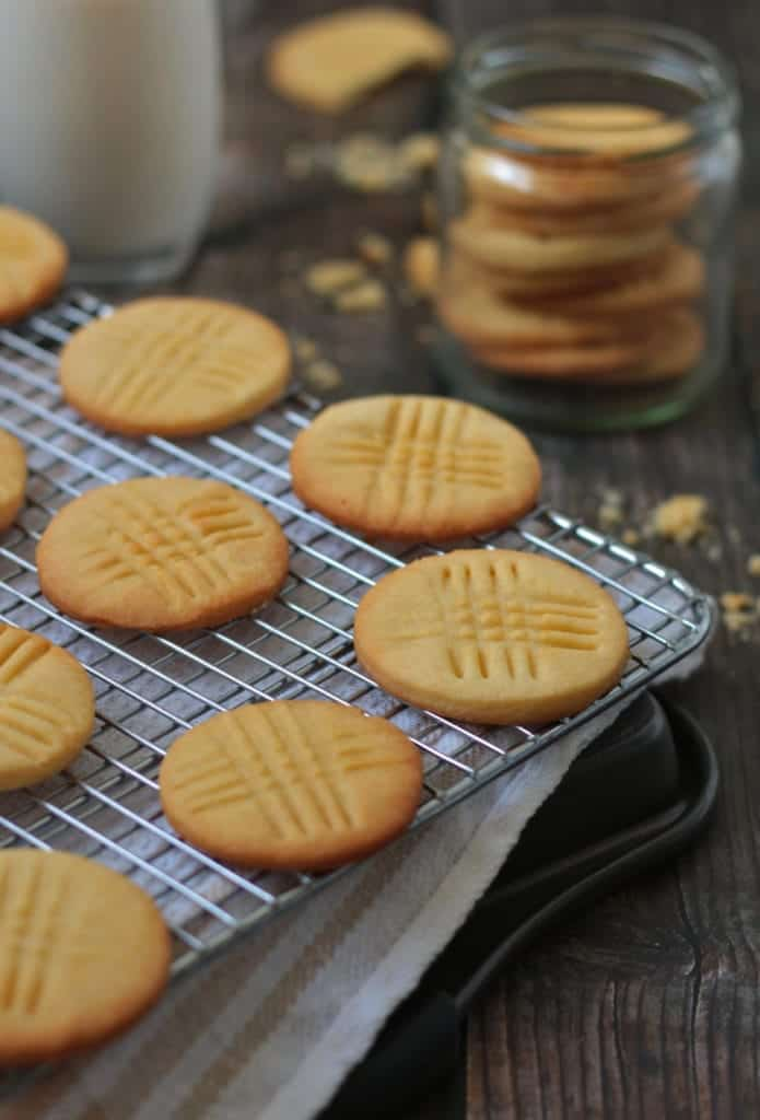 Sable Breton Biscuits on cooling rack