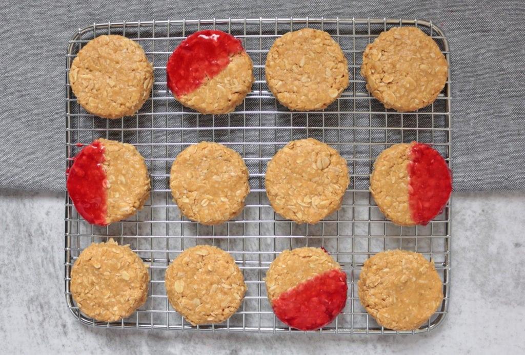 No Bake Peanut Butter Cookies flat lay