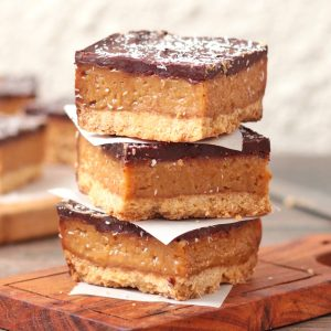 Caramel Slices on top of each other