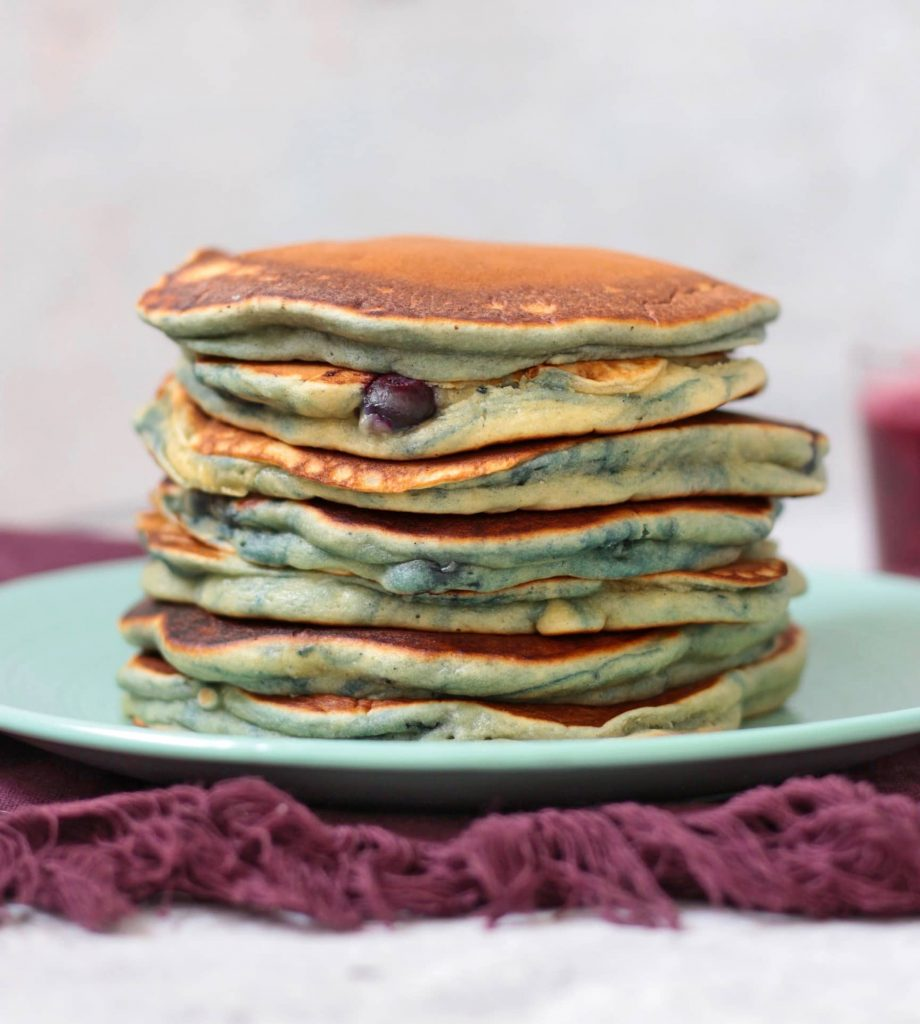 Pancakes with Blueberry Stack