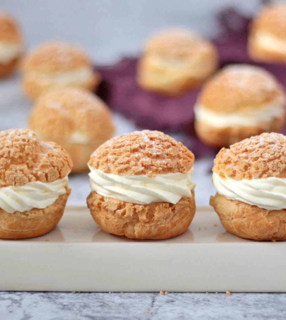 A row of 3 Choux Creme