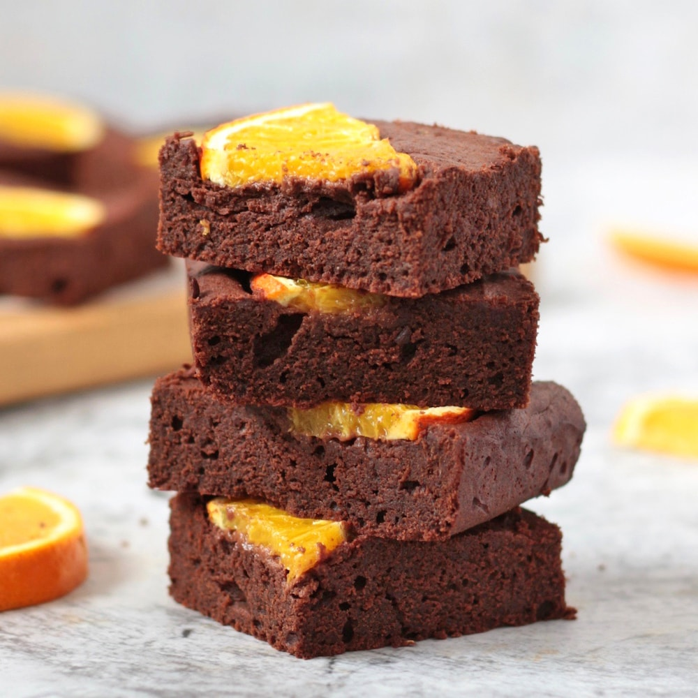 Stack of 4 Orange Brownies