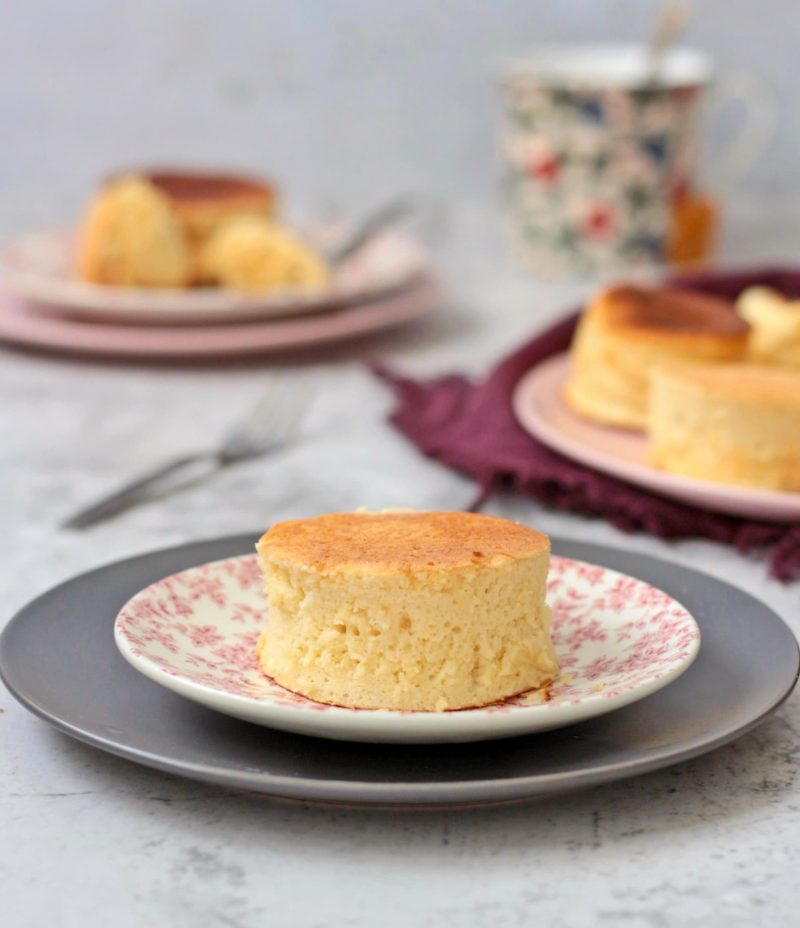 Souffle Pancake served on a plate