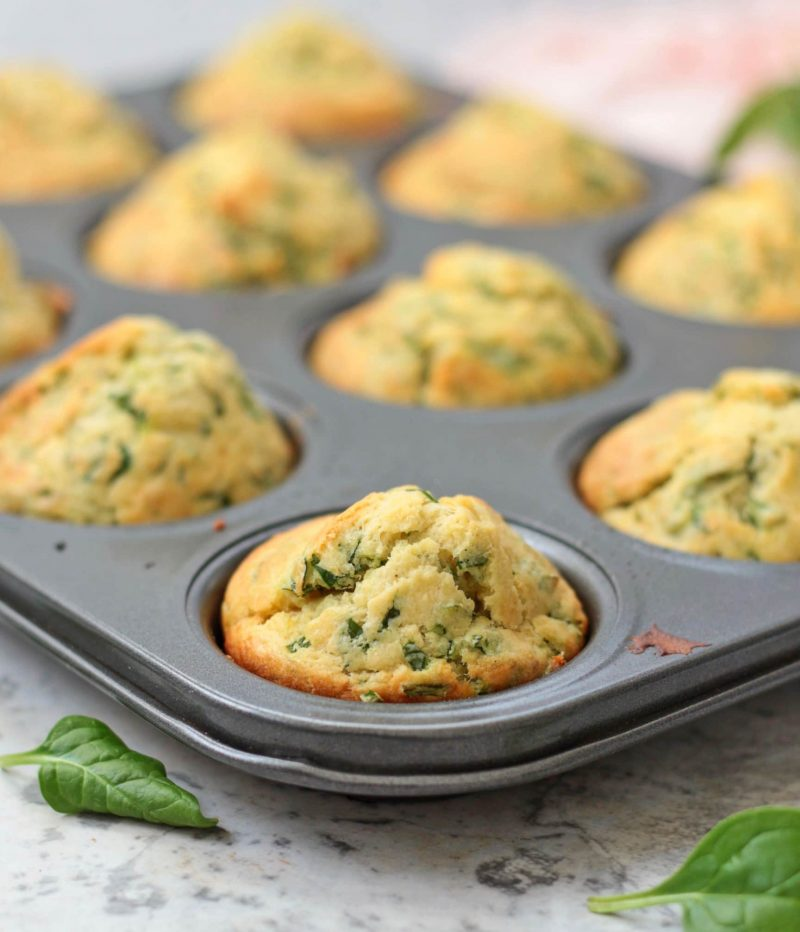 Close up on a Muffin in the pan