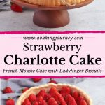 Strawberry Charlotte Cake - French Mousse Cake with ladyfinger Biscuits