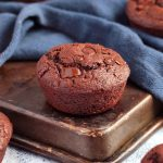 Brownie Muffin on a Baking Tray