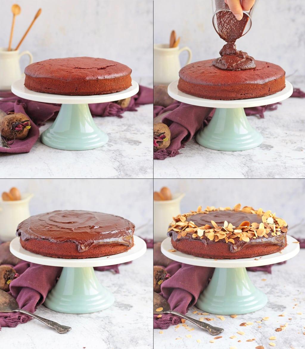 Making off the cake - 4 process shots