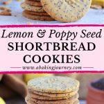 Lemon & Poppy Seed Shortbread Cookies