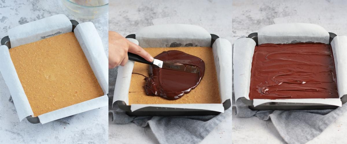 Process shot 2: chocolate layer