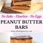 No Bake Flourless No Eggs Peanut Butter bars