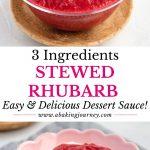3 ingredients stewed rhubarb sauce