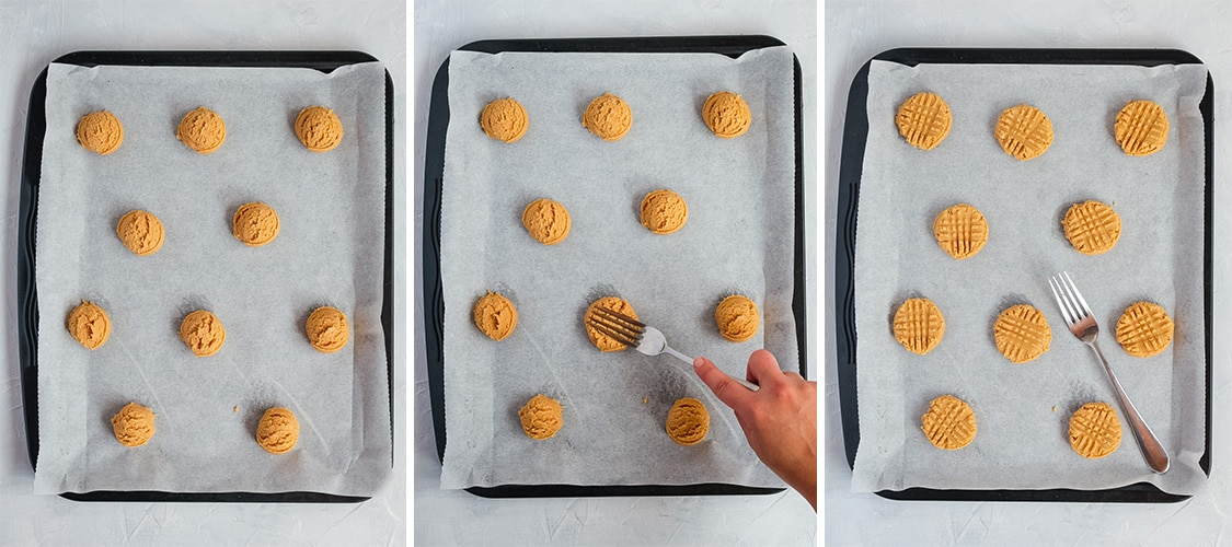 Process Shot: shaping the cookies