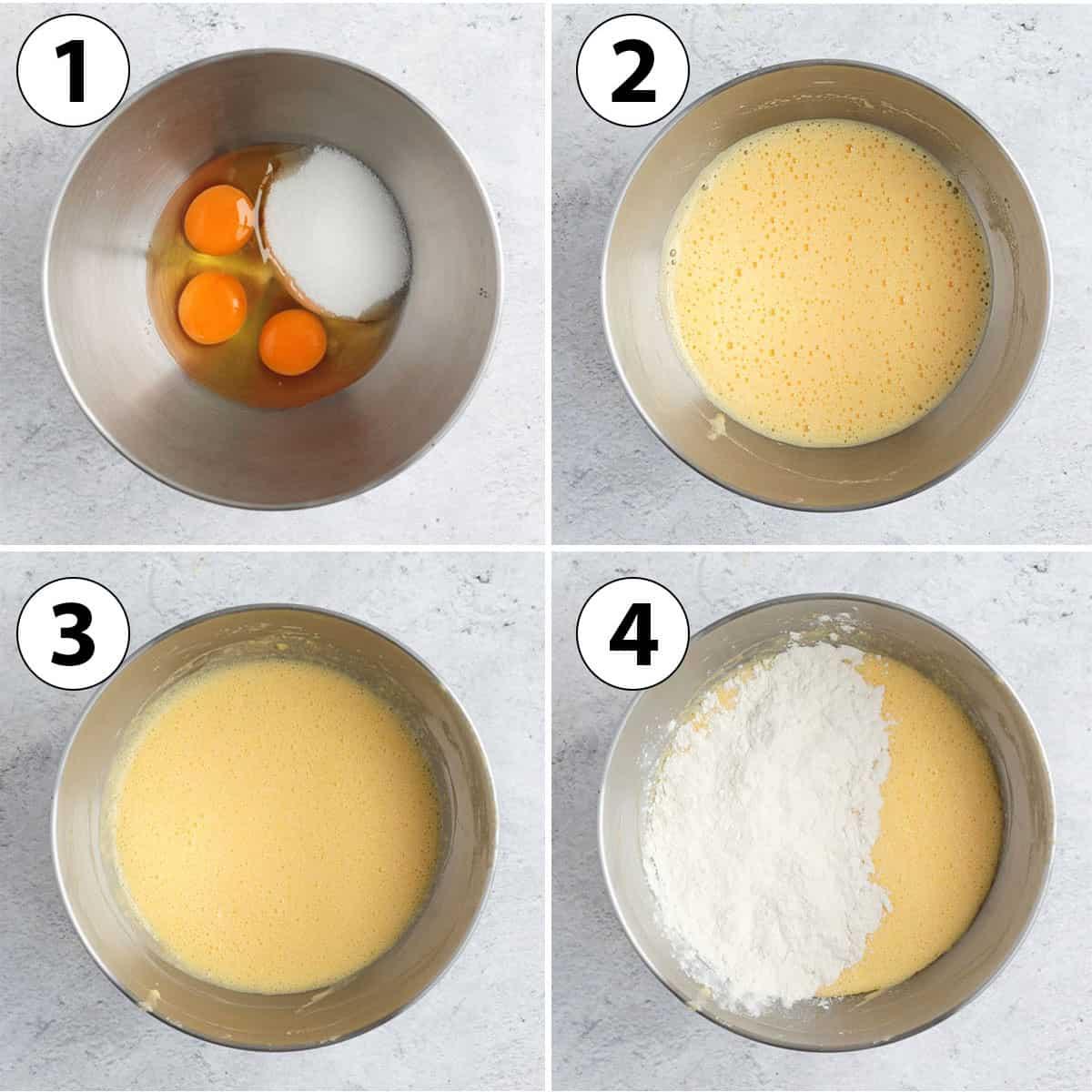 Process Shot Collage: preparing the Vanilla Cake Batter.